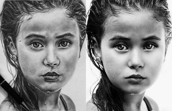 Слева - рисунок, справа - оригинал. Каляки-Маляки, Первый пост, Длиннопост