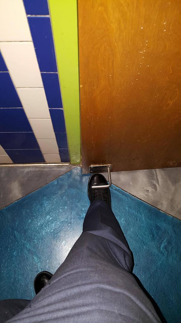 Вот таким вот должен быть выход из общественного туалета!