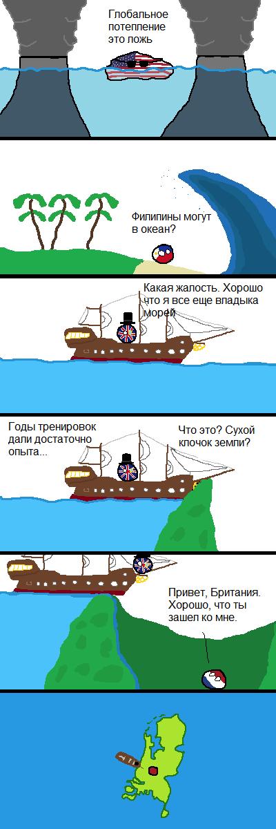Комикс ниже уровня моря countryballs, Комиксы, перевод