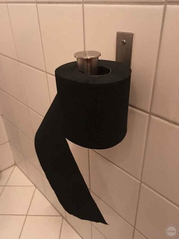 Просто чёрная туалетная бумага,теперь ты видел всё..