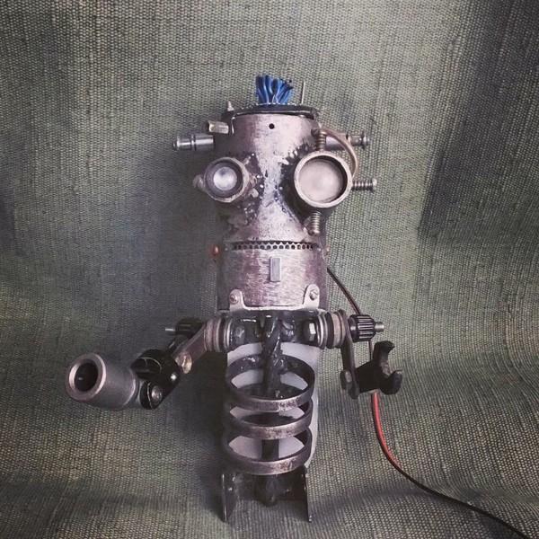 Мой робот - Фрэнк ручная работа, сварка, пайка, Робот, Франкенштейн, видео, длиннопост
