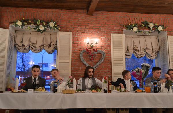 Когда лично пришел благословить молодожёнов Свадьба, Смешное фото, Пишу первый раз, Тайная вечеря