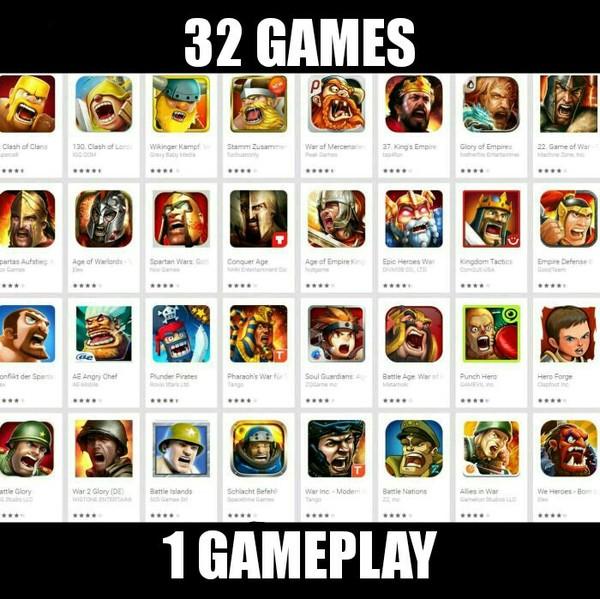 32 игры, 1 геймплей