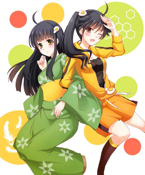 "Как писал один великий пикабушник: ""Не быть мне кармадрочером, надо было выкладывать по одной)"" Anime Art, Shinobu Oshino, Hitagi Senjougahara, Tsukihi Araragi, Araragi Karen, Hanekawa Tsubasa, Длиннопост"