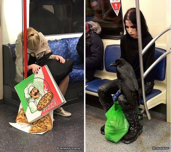 Встретились два одиночества. пицца, ворон, гот, метро, хэппи энд