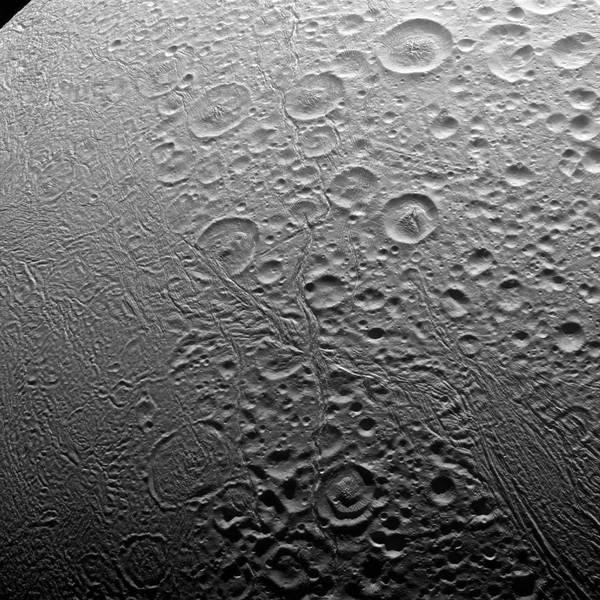 Северный полюс Энцелада - спутника Сатурна Энцелад, Сатурн, космос