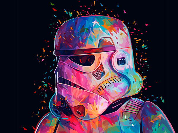 Арты от Alessandro Pautasso (Star Wars) star wars, арт, Darth Vader, Дарт Мол, Йода, Штурмовик, Боба Фетт, длиннопост