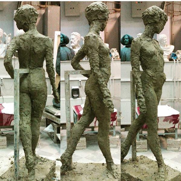 Немного этапов лепки фигуры Скульптура, Обнаженка, Модели, Длиннопост