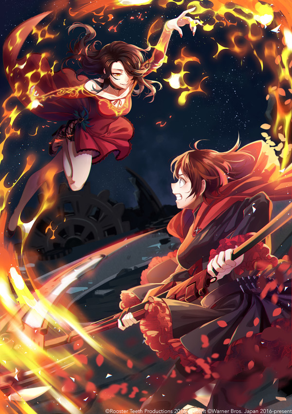 Красота. RWBY, Pyrrha Nikos, Ruby rose, Cinder fall, Длиннопост