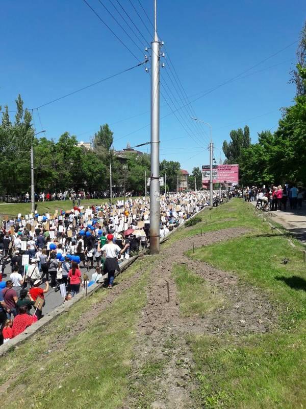 Бессмертный полк в Бишкеке. Киргизия/Кыргызстан Бессмертный полк, 9 мая, Кыргызстан, Бишкек, Победа, Длиннопост