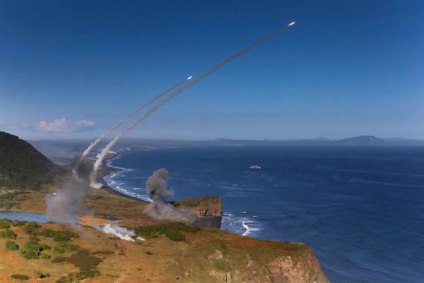 Пуск ракет С-300 во время учений на Дальнем Востоке с-300, пво, Ракета, антиавиация