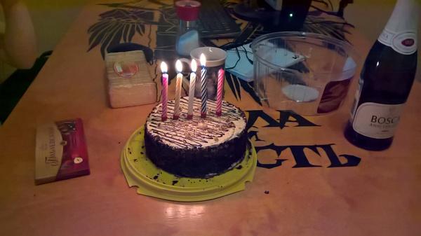 У меня тоже недавно был юбилей День рождения, Двоичный код