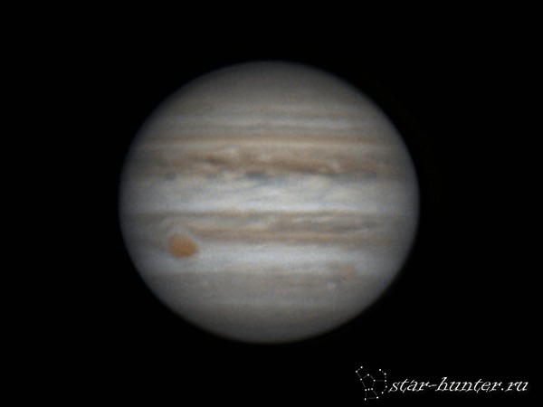 Юпитер, 16 апреля 2017 года, 22:14. Юпитер, астрофото, астрономия, космос, StarHunter, КраснодарБалкон, гифка