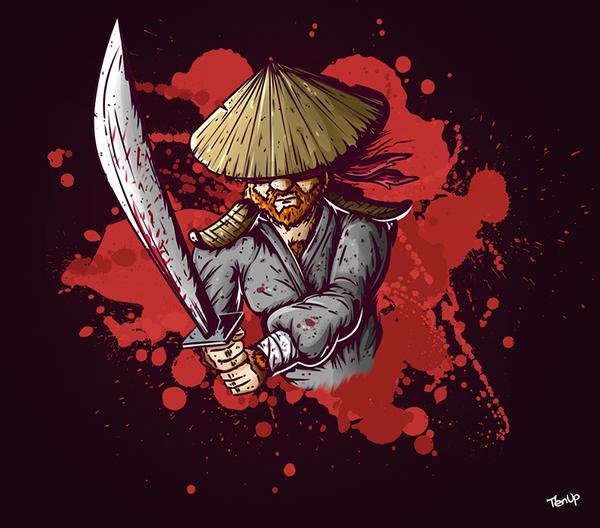 Пятничный «Затойчи» Рисунок, Цифровой рисунок, Арт, Самурай, Самурайский меч