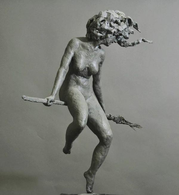 Ведьма скульптура, своими руками