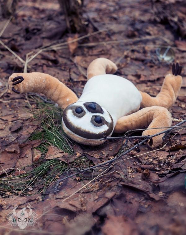 Кусочек лени лень, ленивец, мягкая игрушка, полимерная глина, ручная работа, длиннопост