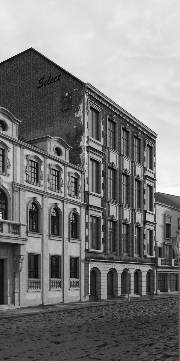 Старая улица (3d) Vray, 3ds max, Визуализация, Моё, Видео, Длиннопост