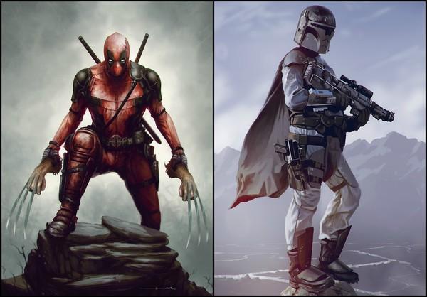 КиноАрт: художник mer tun арт, киноарт, бэтмен, star wars, сорвиголова, фэнтези, оно, Deadpool, длиннопост