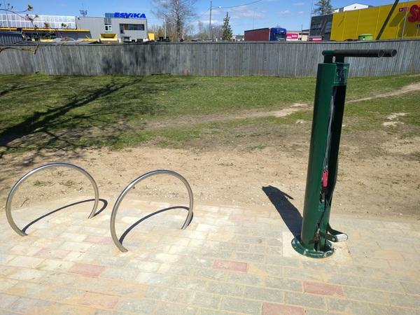 Станция обслуживания велосипеда. Велосипед, Удобство, СТО, Длиннопост, Эстония