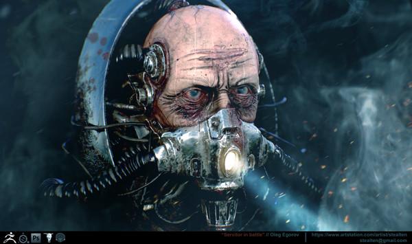 Сервитор Warhammer 40k, Wh art, 3d, Сервитор, Длиннопост