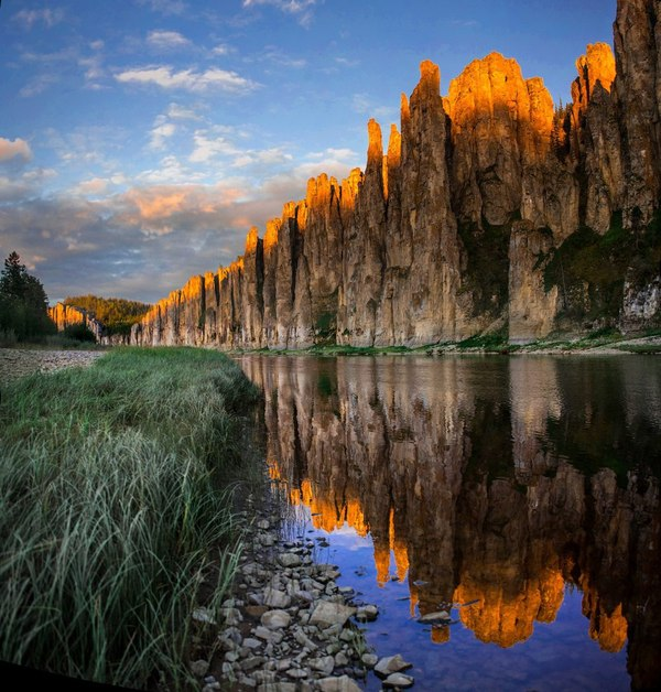 Золотые скалы, река Синяя, Якутия Россия, фотография, пейзаж, Природа, путешествия, туризм, Якутия