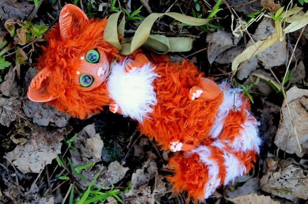 Рыжий котик кот, кукла, рукоделие без процесса, милота