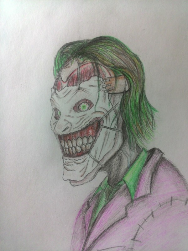 Каракули рисунок, рисунок карандашом, Джокер, New52