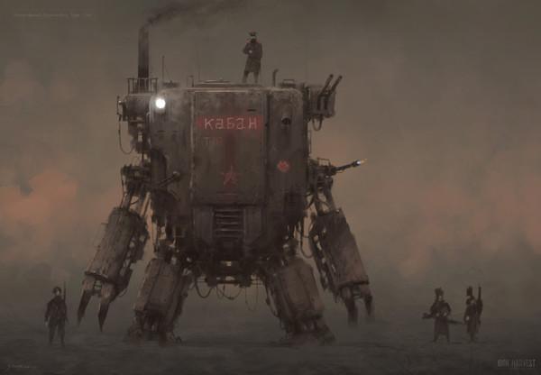"""""""Кабан"""" PZM - 9. кабан, концепт, 2d digital, Mech, Игры, Оружие, персонажи игр, арт"""