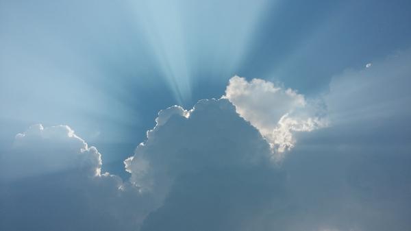 Битва облаков Битва облаков, облака, свет, синева