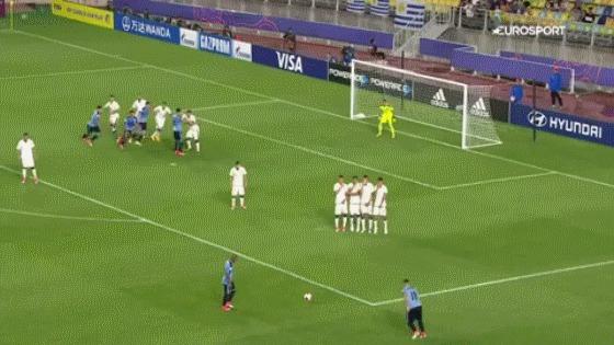 Пушка Футбол, ЧМ U-20, Уругвай, Штрафной удар, Гифка