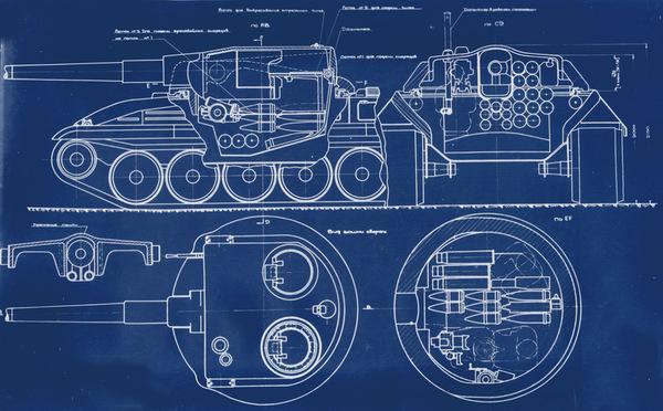 "Объект 752 АЗ ""Бумеранг"" - моделирование танка по чертежам с нуля. 3d моделирование, танки, Объект 752, проект, моё, видео, длиннопост"