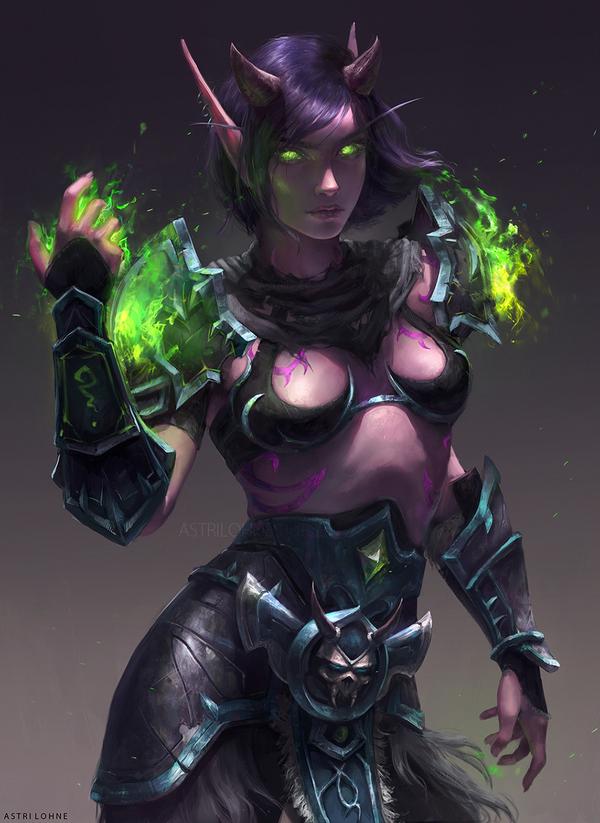 Demon hunter Арт, Wow, Warcraft, Ночные эльфы, Demon hunter