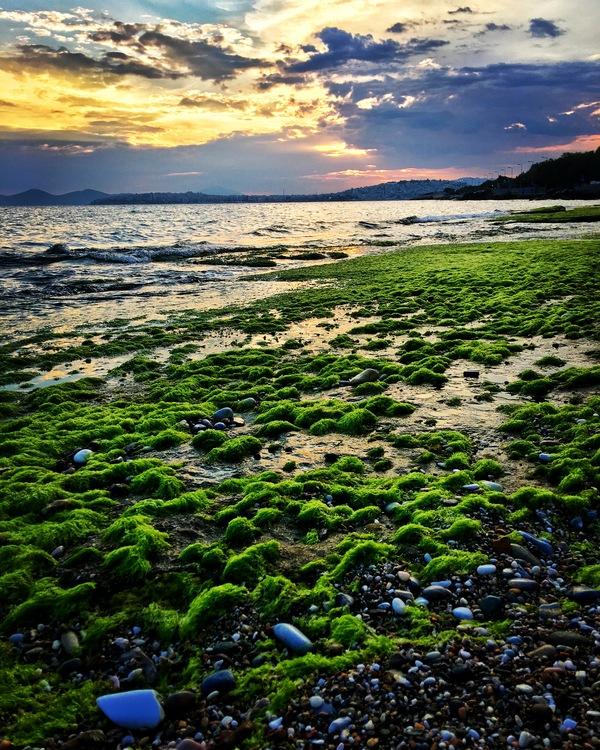 Майский закат в Афинах моё, фотография, море, закат, афины, Небо, май