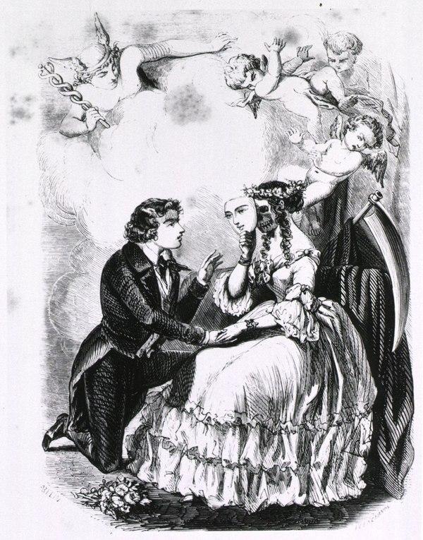 За маской: сифилис; Поэма в четырех песнях, Париж, 1851.