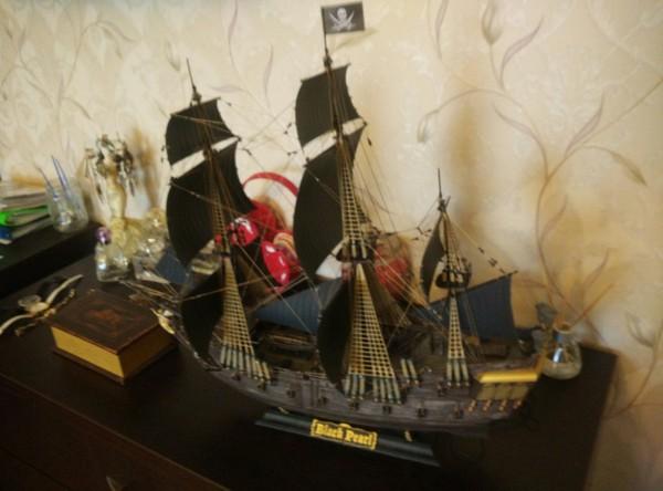 Модель черной жемчужины. Моделизм, Стендовый моделизм, Рукоделие, Корабль, Черная жемчужина, Пираты карибского моря, Длиннопост