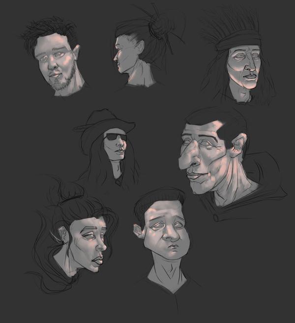 Цифровые портреты & скетчи Цифровой рисунок, Арт, Digital, Длиннопост