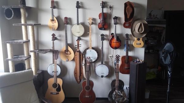 Моя коллекция музыкальных инструментов, очередной пост обновления. Музыкальные инструменты, Коллекция, Музыка, Гитара, Наркомания, Банджо, Кот, Фолк, Длиннопост