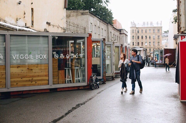 Улица Контейнерная карготектура, Санкт-Петербург, контейнер, дизайн интерьера, достопримечательности, лофт проект ЭТАЖИ, длиннопост