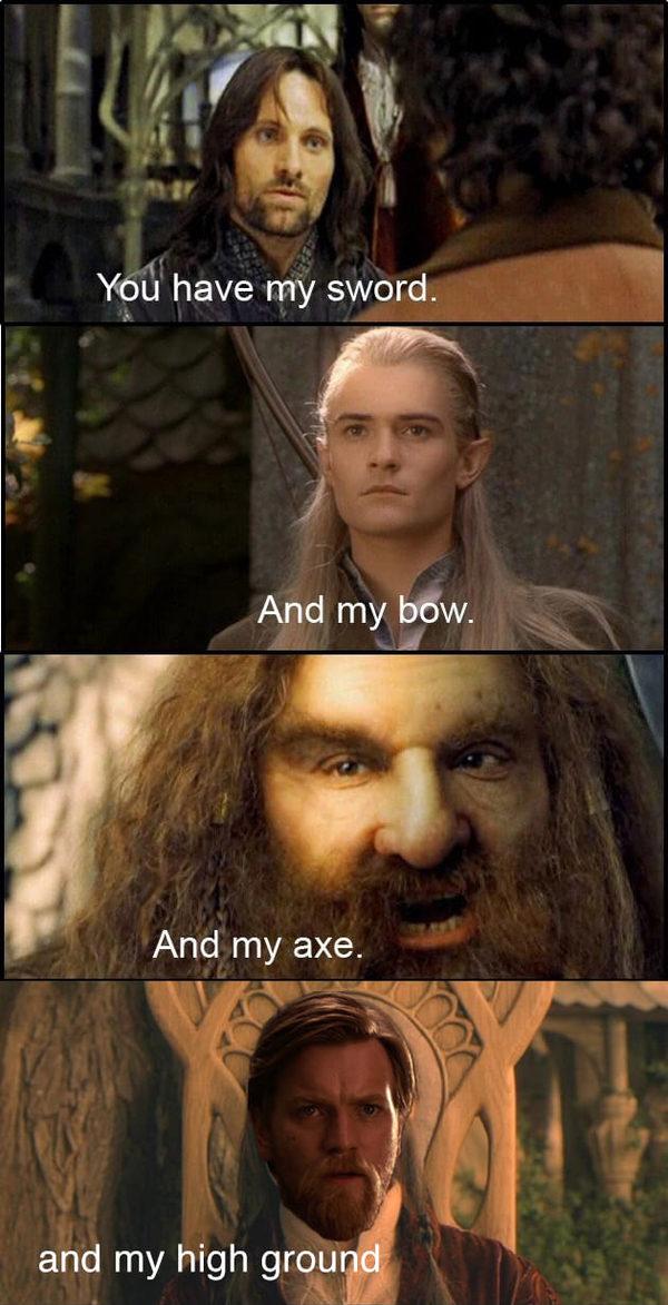 С тобой мой меч! - И мой топор! - И мой лук...