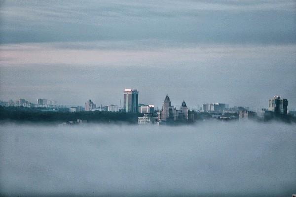 Туманное утро в Казани Фотография, Доброе утро