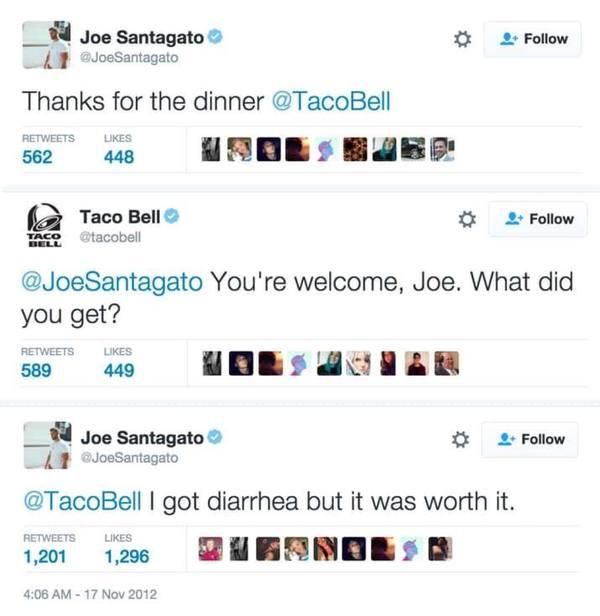 Оно того стоило Taco Bell, Twitter, Диарея
