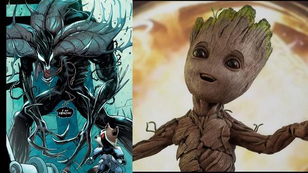 Я есть Веном! Так выглядит Грут, ставший Веномом. грут, веном, симбиот, Комиксы, стражи галактики