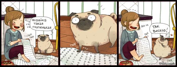 Лопай пупырышки Lin, Bash im, Комиксы, Мопс, Пупырышки, Пупырчатый полиэтилен, Девушки, Собака