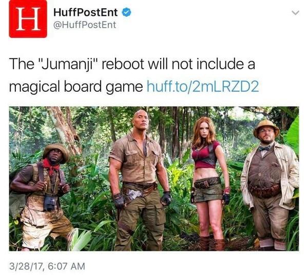 Это точно тот же фильм? Джуманджи, Перезагрузка