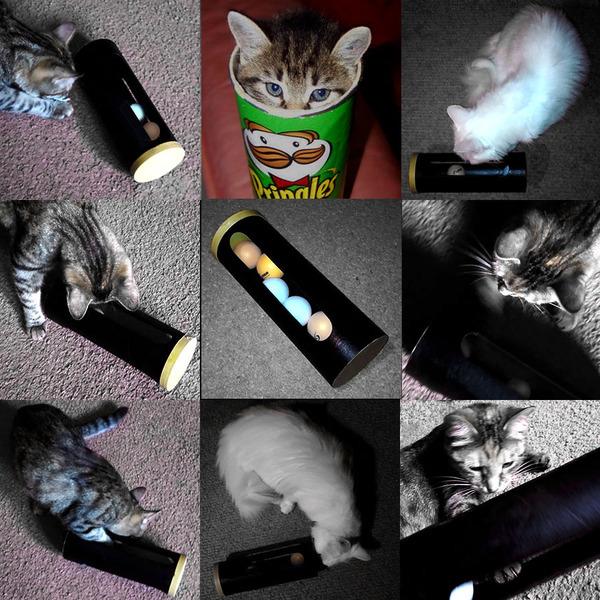 Съел чипсы? Сделай игрушку... кот, кошки и котята, чипсы, игрушки, своими руками, рукоделие, видео