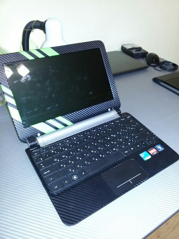 Как я ноутбук клеил или пятничное моё. ноутбук, плёнка, моддинг компьютера, пятничное, длиннопост