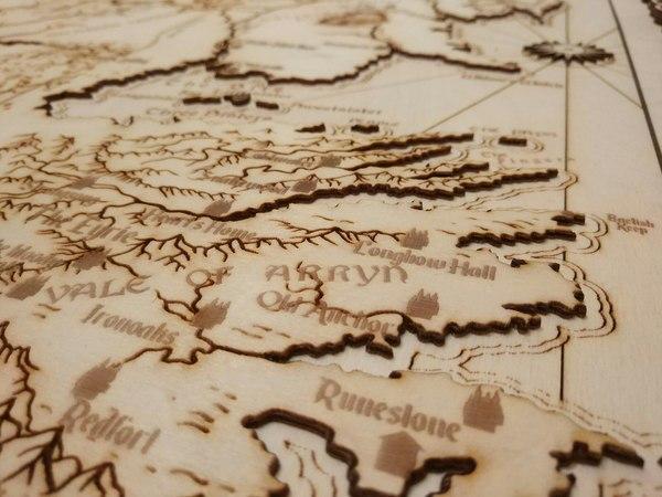 Карта Вестероса из Игры Престолов своими руками Игра престолов, Карта, ручная работа, дракон, лазерная гравировка, лазерная резка, длиннопост