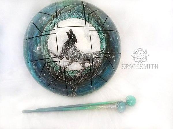 Если долго смотреть на глюкофон, глюкофон начинает смотреть на тебя:) моё, творчество, глюкофон, арт, handmade, барабаны, ручная работа, рукодельники без процесса, длиннопост
