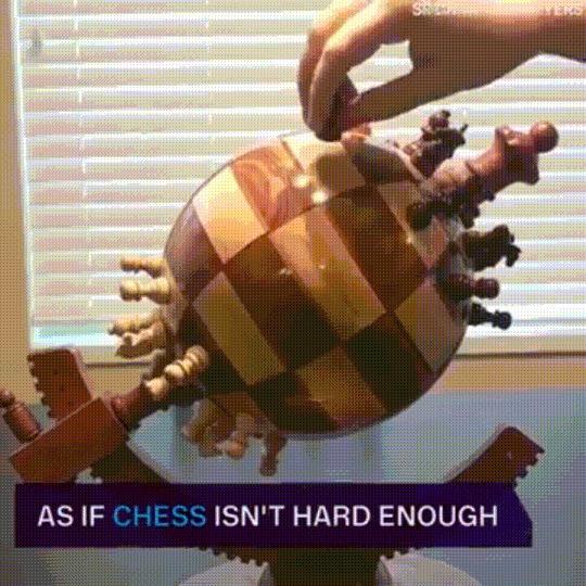 Необычные шахматы Шахматы, Конструкция, Необычное, Гифка