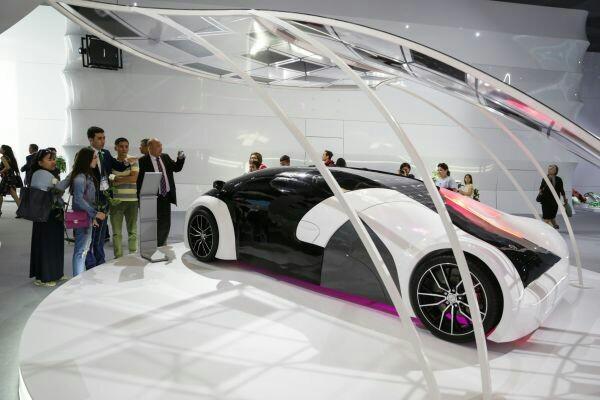 Разработанный в Узбекистане автомобиль на солнечной батарее на выставке ЭКСПО-2017 в Астане авто, узбекистан, Expo-2017, концепт